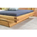 dębowe łóżko drewniane przód
