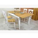 dębowy stół drewniany rozkładany z krzesłami