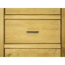 drewniana komoda z wąskimi szufladami