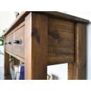 drewniana konsola do sypialni