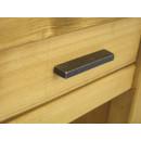 drewniana szafka nocna z metalowym uchwytem
