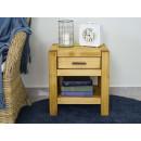 drewniana szafka nocna z szuflada