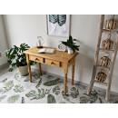 biurko z drewna litego