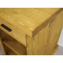 drewniane biurko narożne pojemne