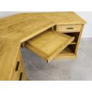 drewniane biurko z szufladą na klawiaturę