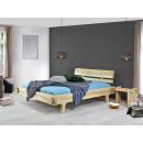 drewniane łóżko dębowe