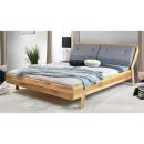 drewniane łóżko dębowe do sypialni