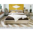 drewniane łóżko sosonowe do sypialni