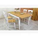 drewniany stół dębowy z krzesłami