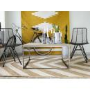 drewniany stolik kawowy metalowe nogi