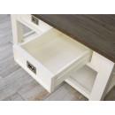 drewniany stolik kawowy z szufladami