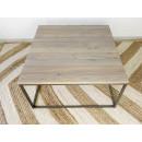 drewniany stolik loftowy