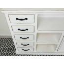 komoda drewniana biała szuflady półki