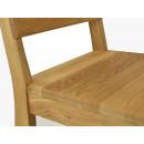 krzesło dębowe zbliżenie
