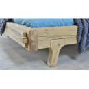 łączenie belek łóżko drewniane