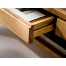 masywna ława dębowa z szufladą