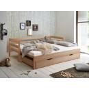 łóżko z drewna bukowego
