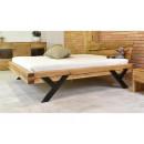 Nowoczesne łóżko drewniane dębowe