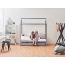 drewniane łóżko dla dzieci
