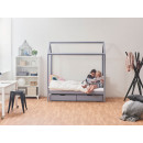 sosnowe łóżko dla dzieci
