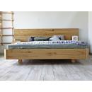 łóżko drewniane dębowe do sypialni