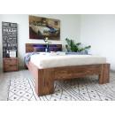 łóżko drewniane małżenskie