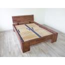 łózko drewniane podwójne