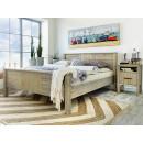 łóżko drewniane podwójne