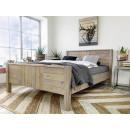 łóżko drewniane podwójne boho