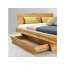 łóżko drewniane profil szufladą wysunietą
