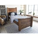 łóżko drewniane rustykalne