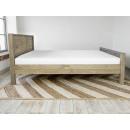 łóżko drewniane sosnowe bok