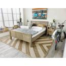 łóżko sosnowe drewniane do sypialni