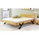 Nowoczesne łóżko dębowe