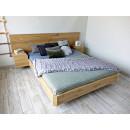 łóżko z drewna dębowego