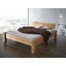 Drewniane łóżko dębowe w stylu rustykalnym