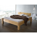 Rustykalne łóżko z litego drewna dębowego