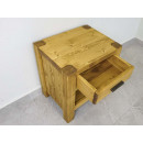 masywna drewniana szafka nocna