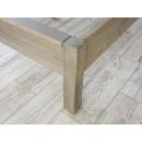masywna noga łóżko drewniane
