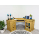 narożne biurko drewniane do gabinetu