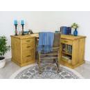 narożne biurko z drewna