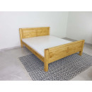 naturalne podwójne łóżko do sypialni