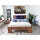 nowoczesne łózko drewniane