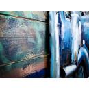 obraz metalowy 3d industrialny