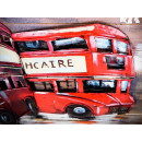 obraz metalowy 3d industrialny angielski bus