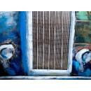 obraz metalowy 3d loftowy