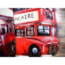 obraz metalowy 3d loftowy angielski bus