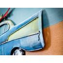 obraz metalowy 3d loftowy auto