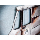 obraz metalowy 3d loftowy auto dostawcze