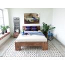 podwójne łózko drewniane
